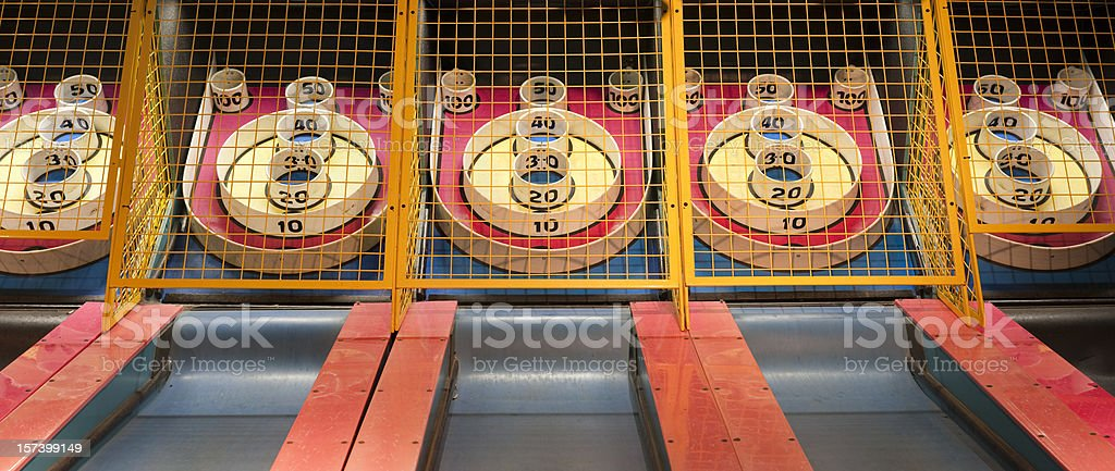 Skee ball panorama (XXL) stock photo