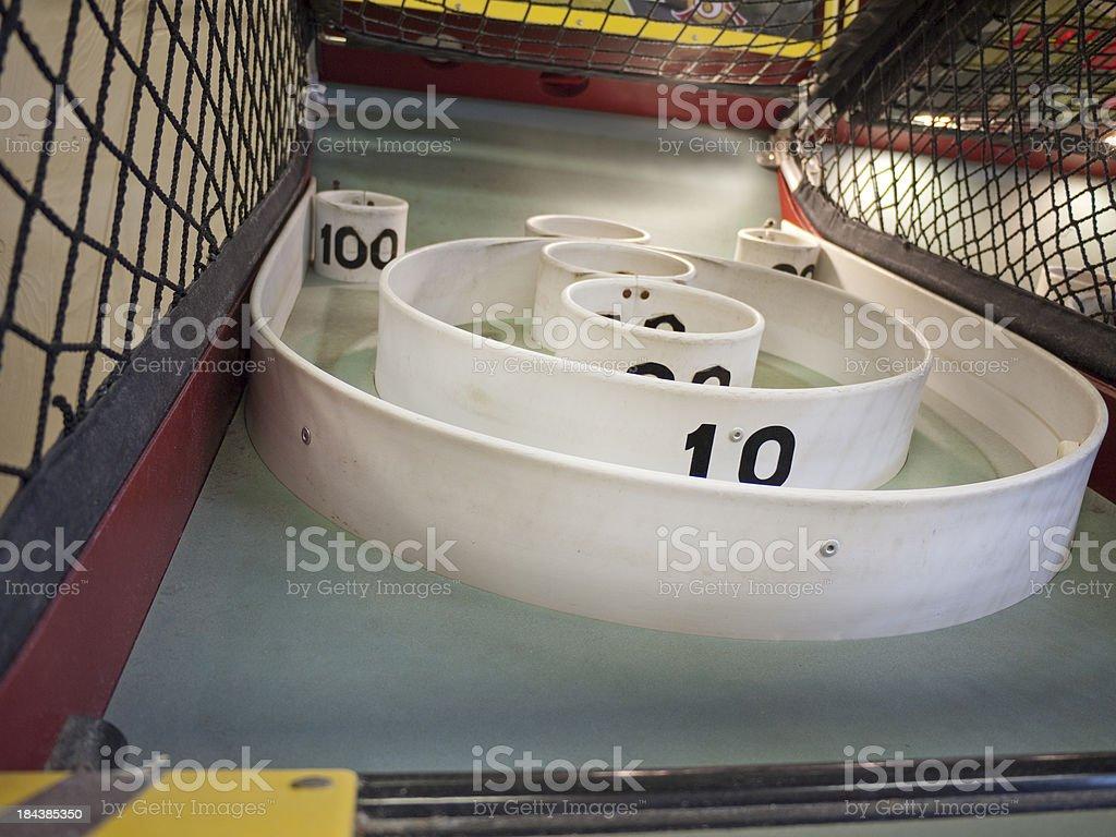 Skee Ball Targets stock photo
