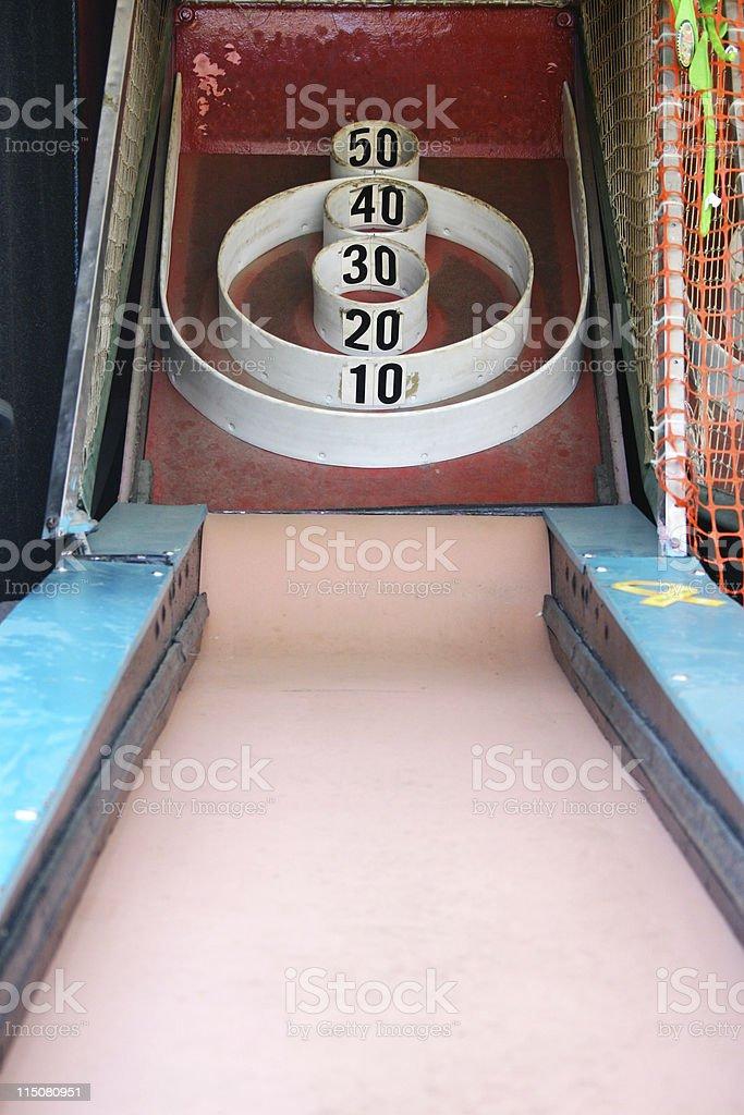Skeeball Arcade / Carnival game stock photo