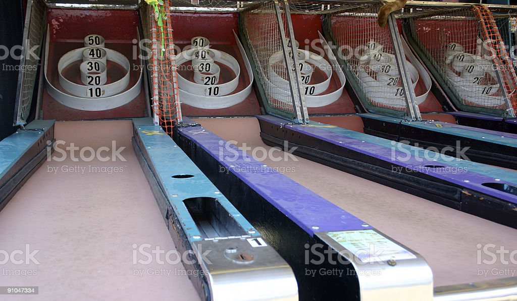 Skeeball (Old Grunge Arcade / Carnival Games) stock photo