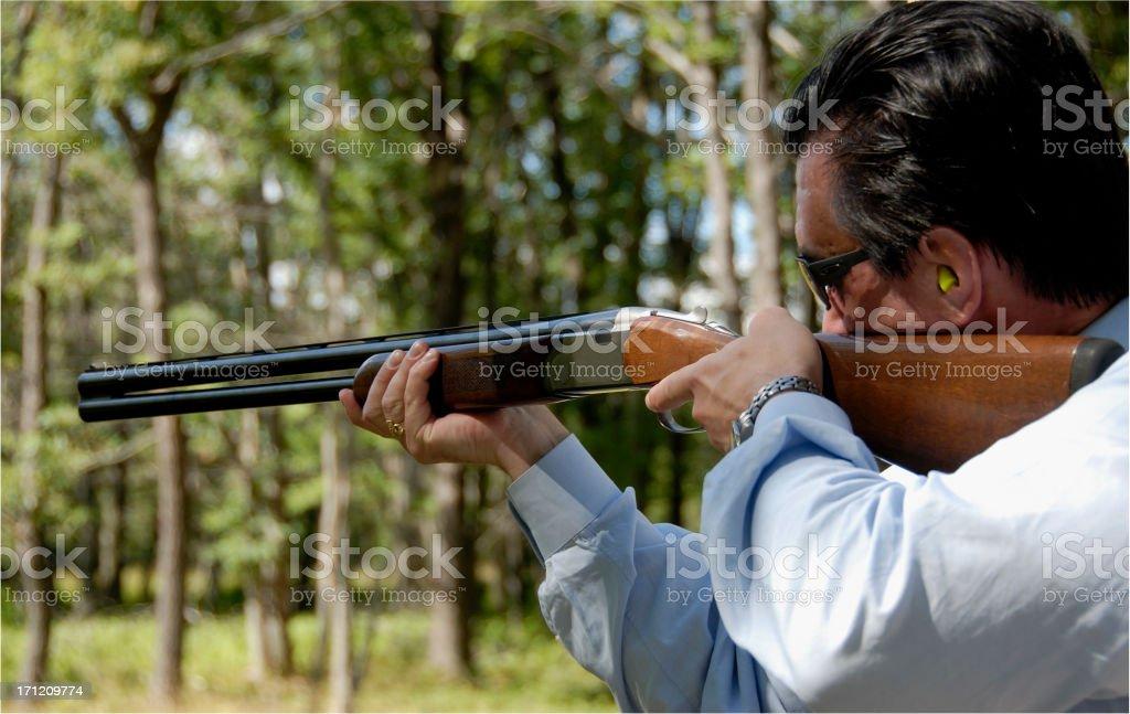 Skeet Shooting royalty-free stock photo