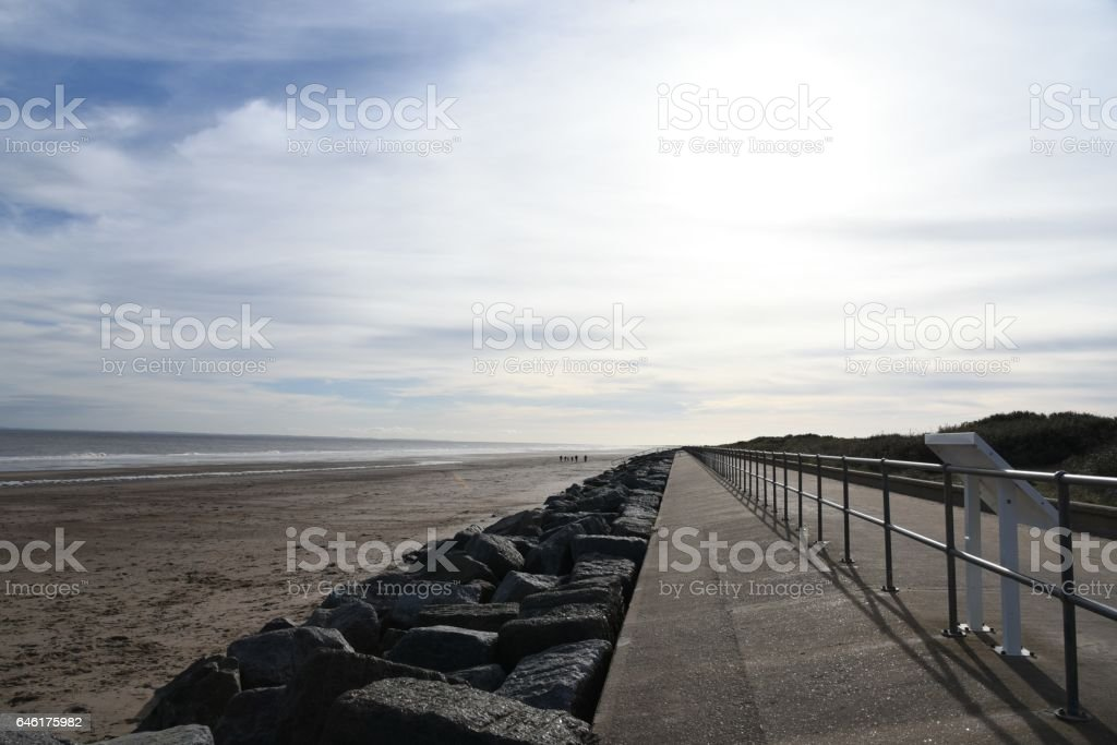 Skegness beach front stock photo