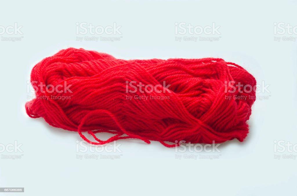 skein scarlet stock photo