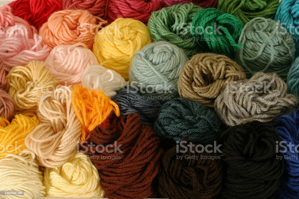 Skeins of Yarn - horizontal royalty-free stock photo