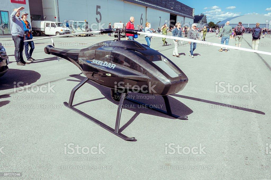 Skeldar drone on display stock photo