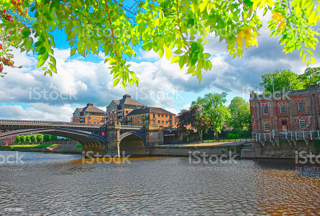 Skeldergate Bridge in York in England stock photo