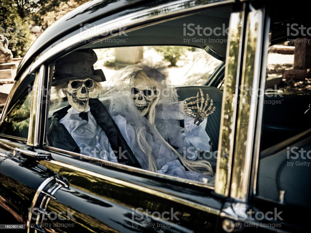 skeletal couple royalty-free stock photo