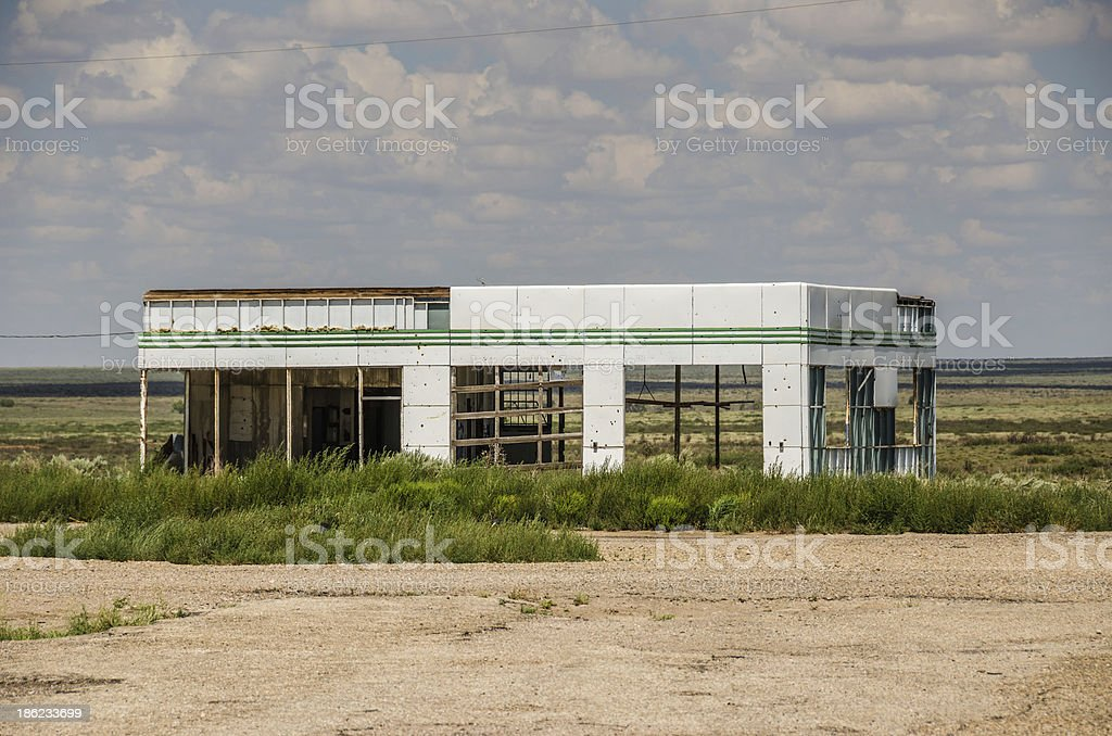 Skeletal Service Station royalty-free stock photo