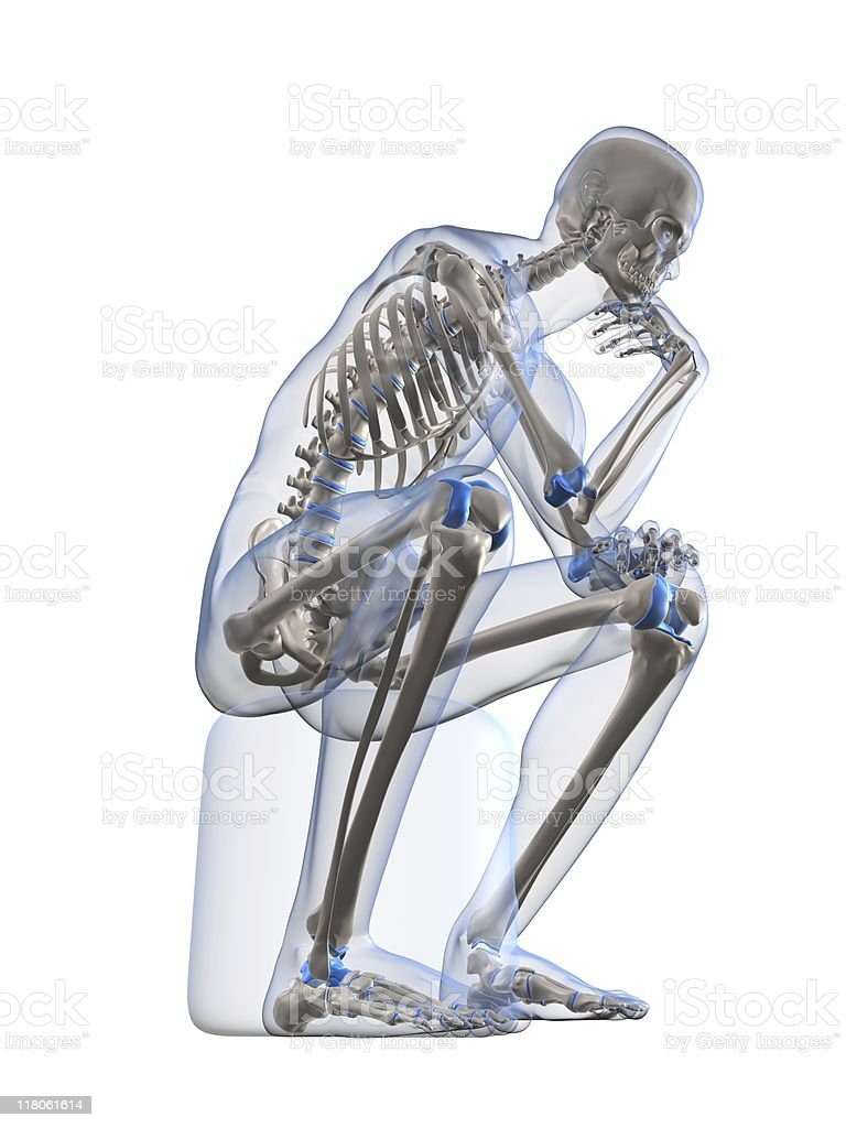 skeletal thinker royalty-free stock photo
