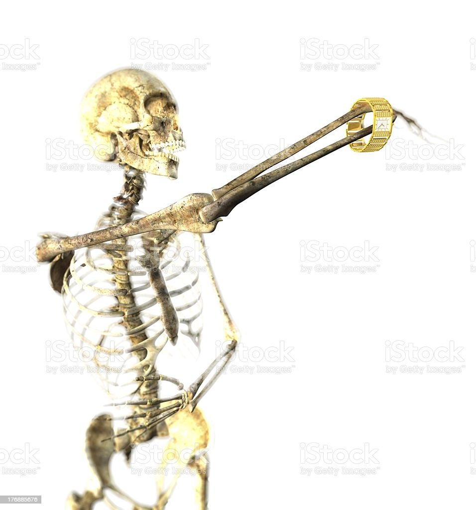 Skeleton and Watch royalty-free stock photo