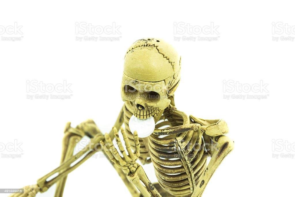 Skelett Essen drug gefährlich Lizenzfreies stock-foto