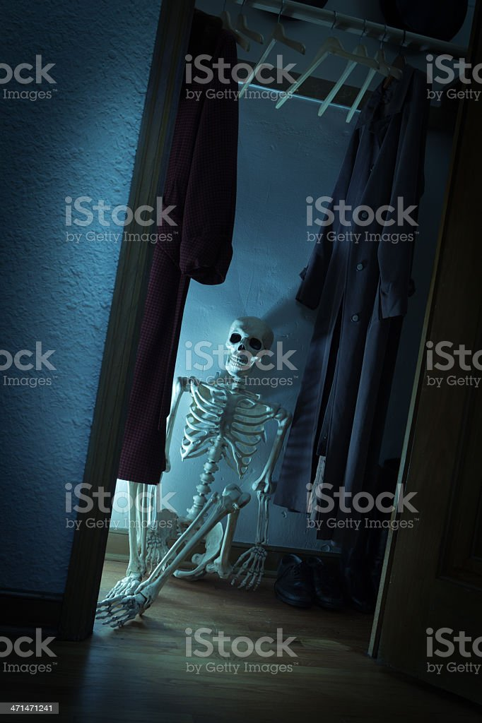 Skeleton in the Closet Vt stock photo