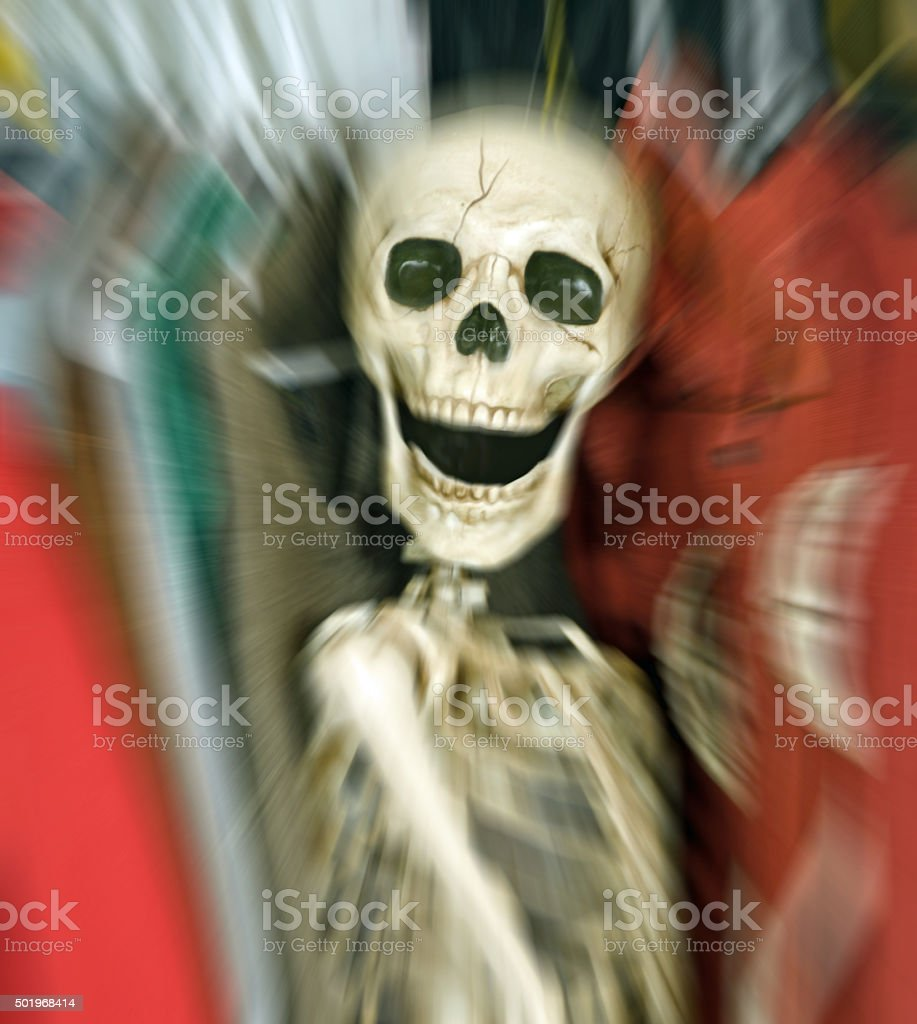 Skeleton In the Closet- with zoom applied stock photo