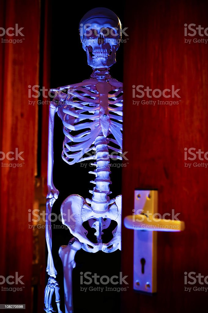 Skeleton in the Cupboard stock photo