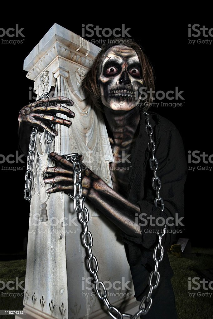 Skeleton in the Graveyard royalty-free stock photo