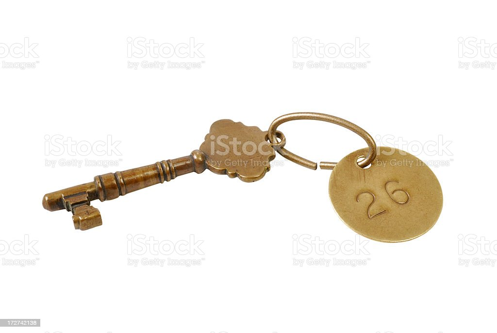 Skeleton Key Clip royalty-free stock photo