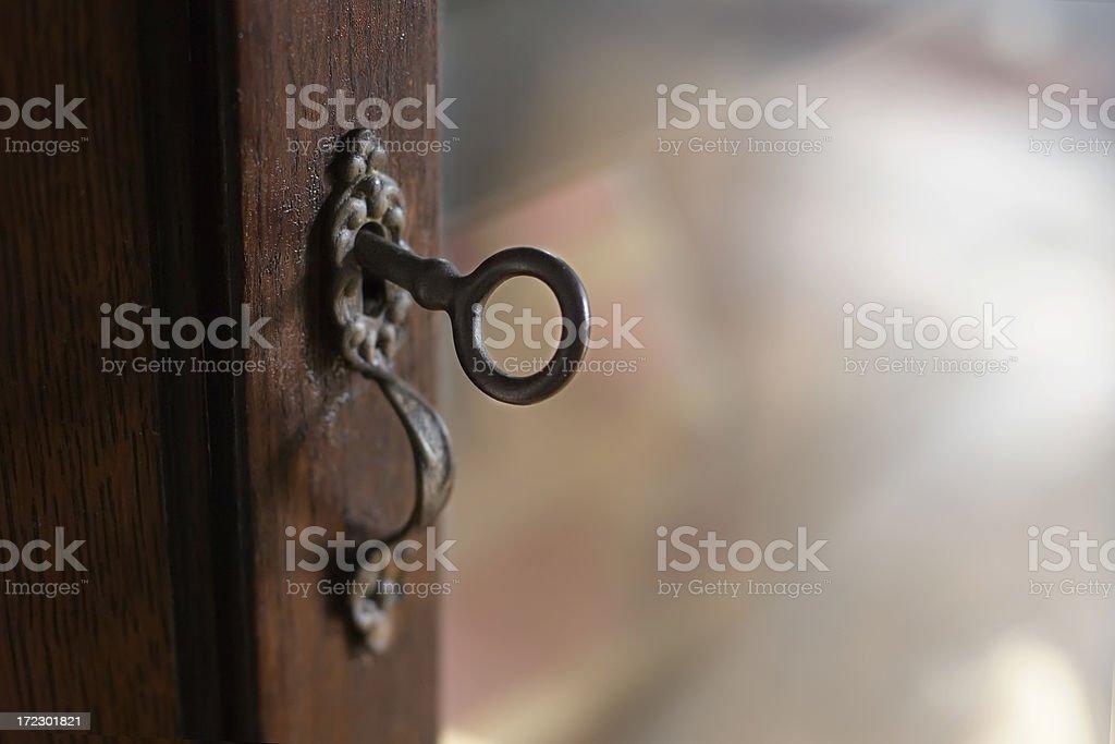 Skeleton Key Lock stock photo