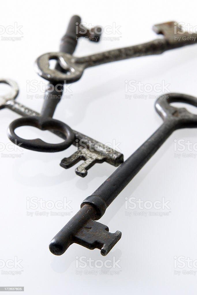 Skeleton Keys in White royalty-free stock photo
