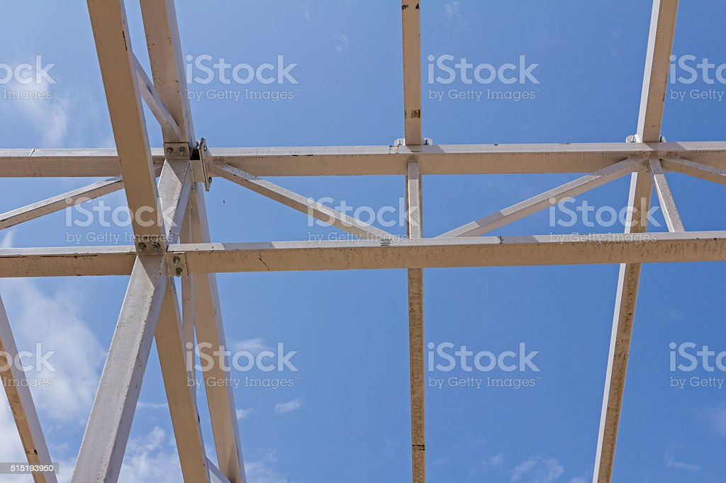 Skeleton of new assembled canopies. stock photo