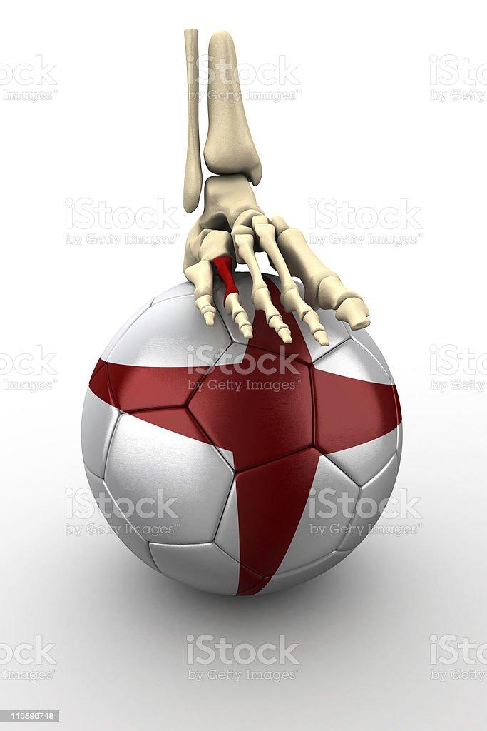 Skeleton on English Ball royalty-free stock photo