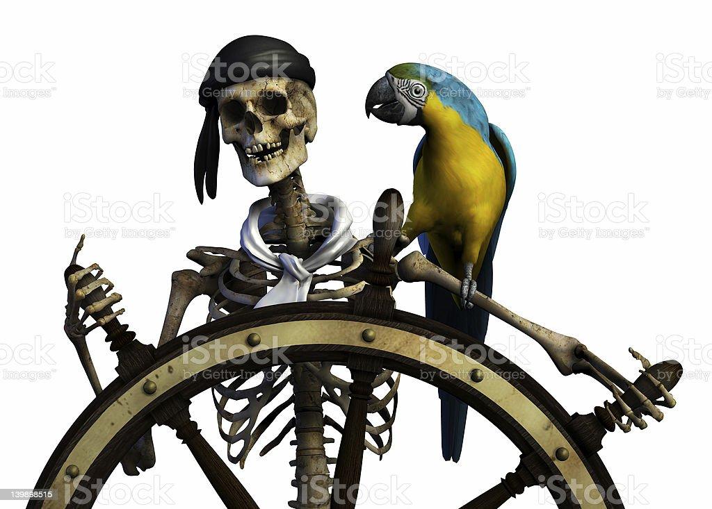 Skeleton Pirate stock photo