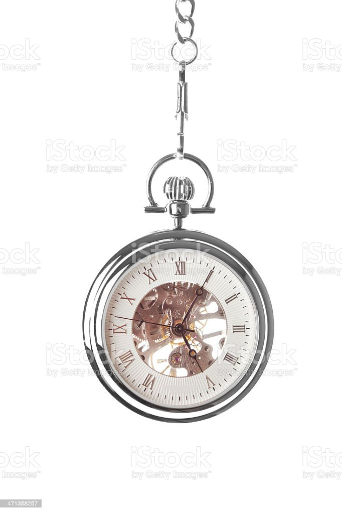 Skeleton Pocket Watch royalty-free stock photo