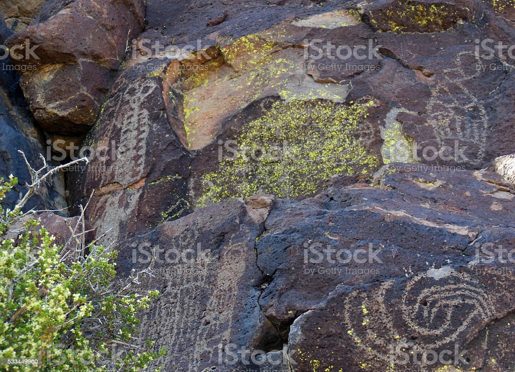 Skeleton Rock Art stock photo