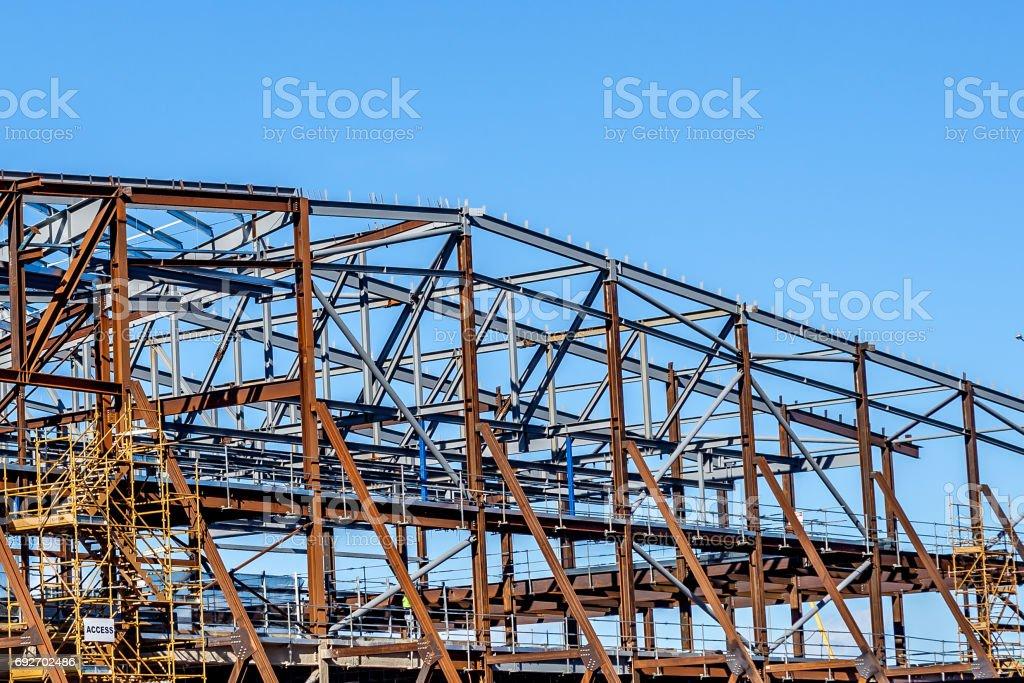 Skeleton Steel Frames stock photo