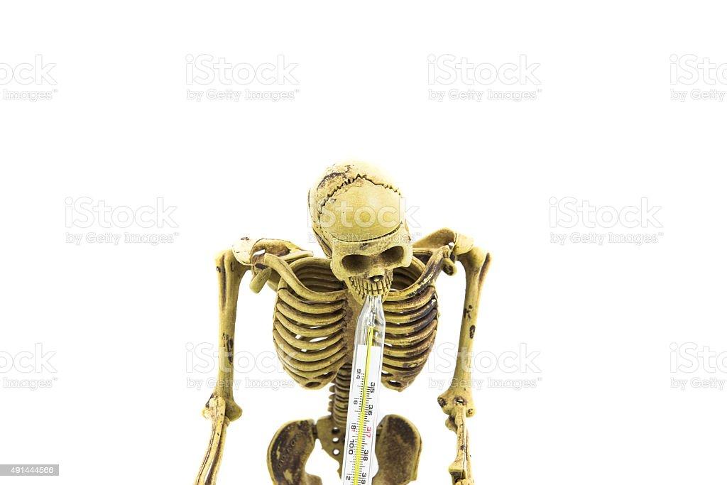 Skelett thermometer isoliert Lizenzfreies stock-foto