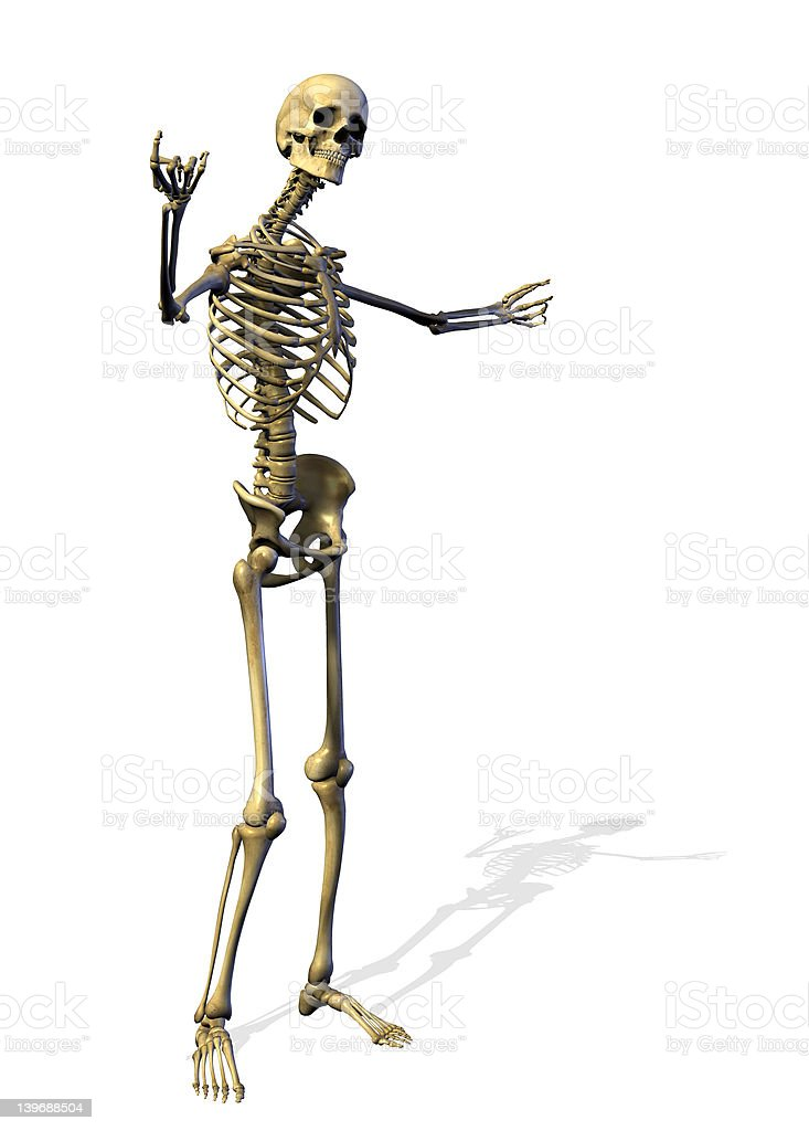 Skeleton Welcomes You - includes clipping path royalty-free stock photo