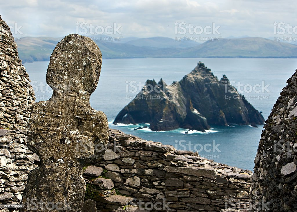 Skellig Michael stock photo