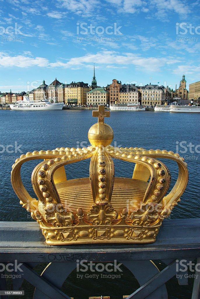 Skeppsholmen bridge and Royal palace royalty-free stock photo