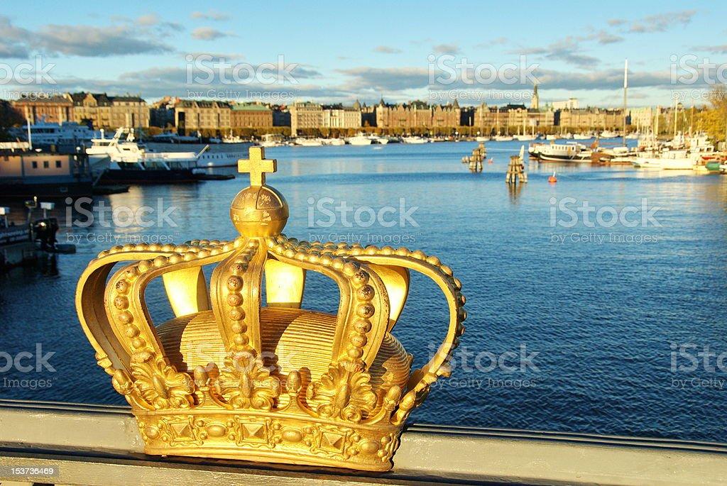 Skeppsholmen bridge royalty-free stock photo