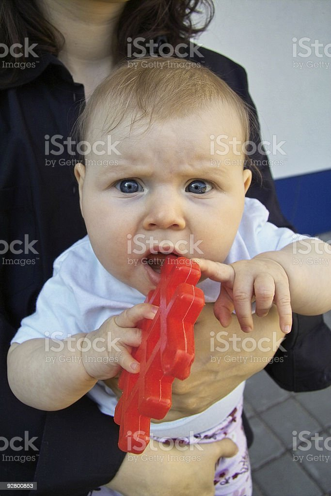 Skeptic Baby stock photo