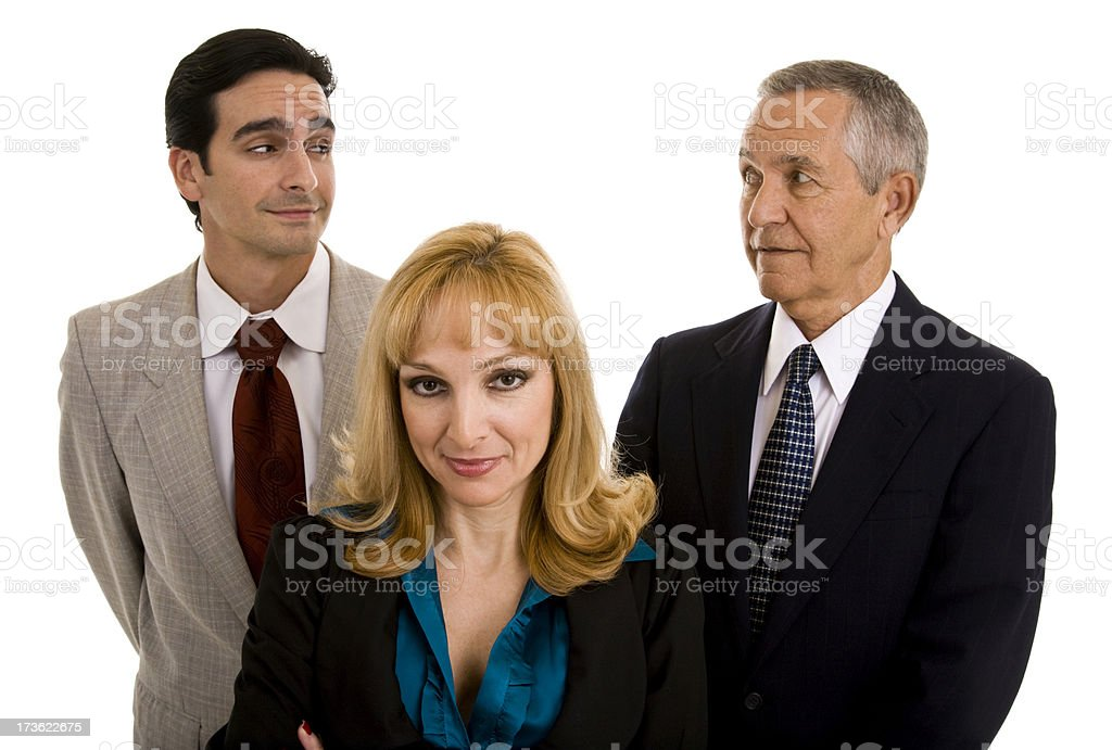 Skeptic Business Team royalty-free stock photo