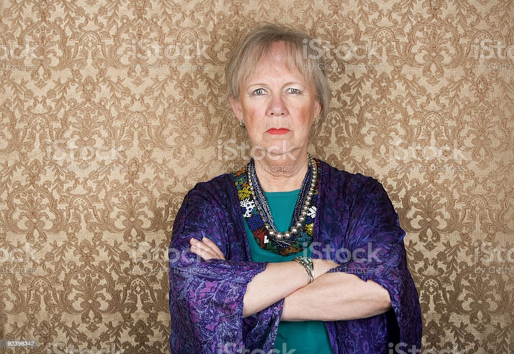Skeptical Senior Woman royalty-free stock photo