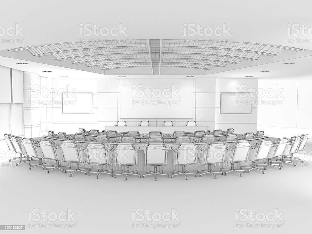 3D Sketch architecture Modern conference room Classroom 2 royalty-free stock photo