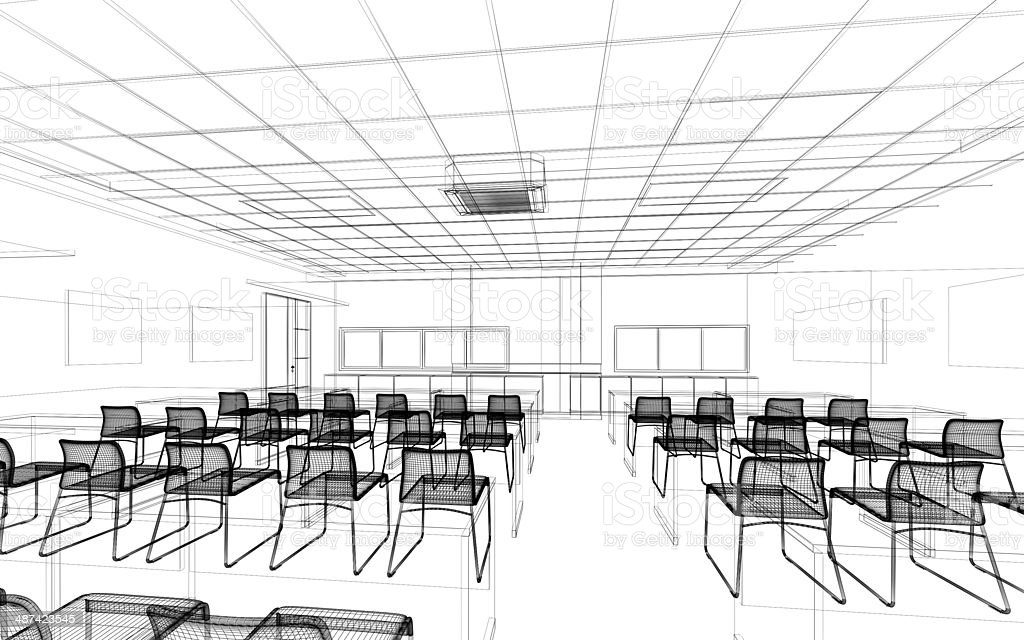 sketch design of conference stock photo