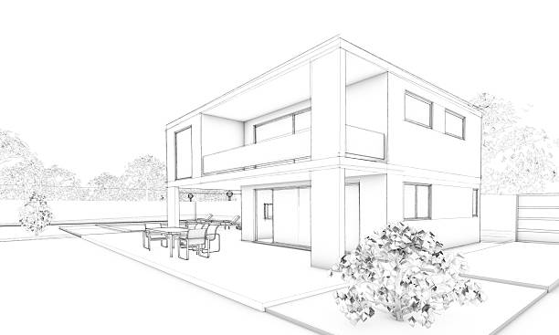 Modern House Sketch Pictures Images And Stock Photos IStock - Modern house sketch