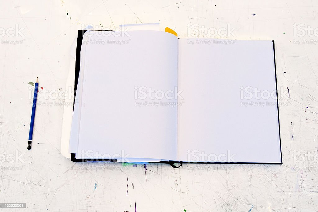 Sketchbook royalty-free stock photo