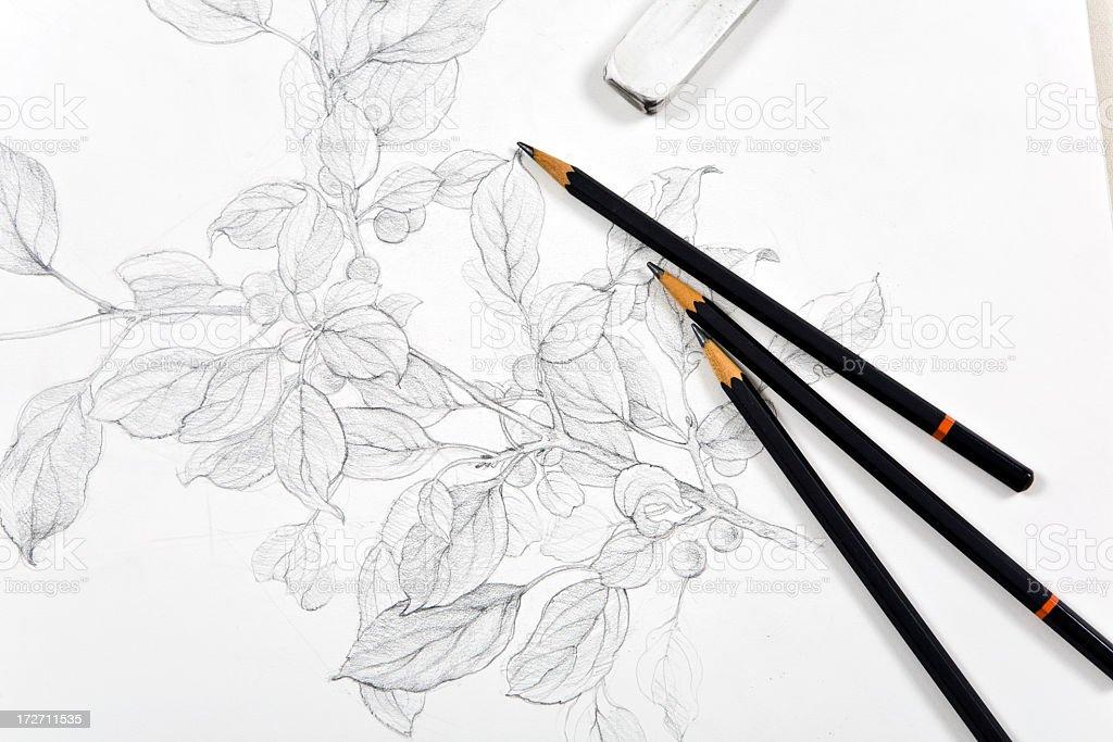 Sketchbook stock photo