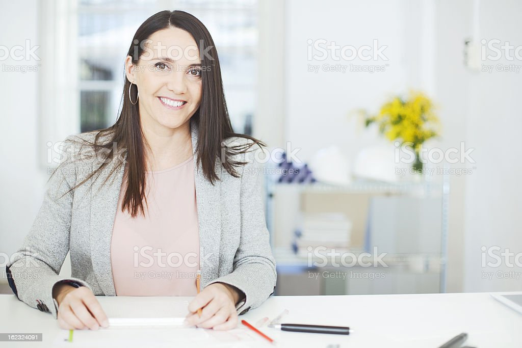 Sketching and designing architectural work stock photo