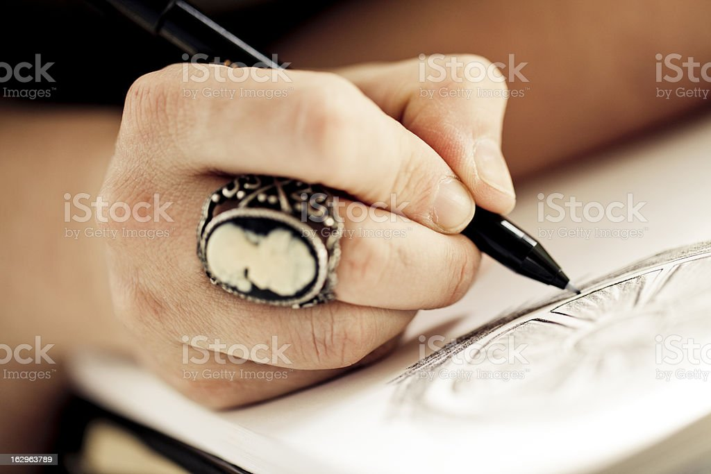 Sketching stock photo