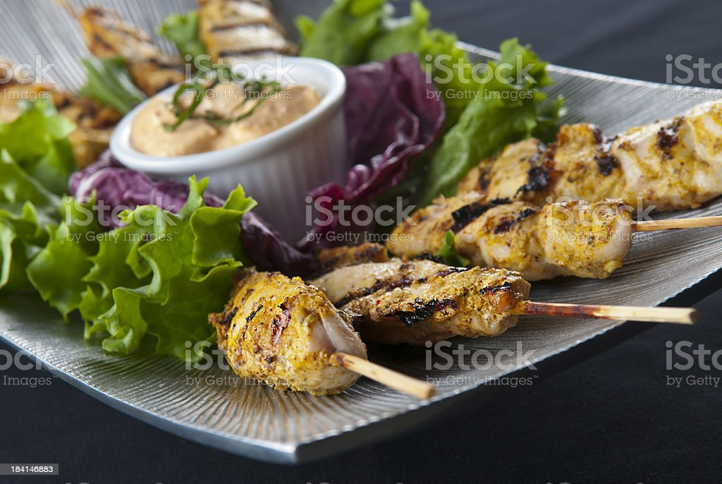 Skewer Chicken stock photo