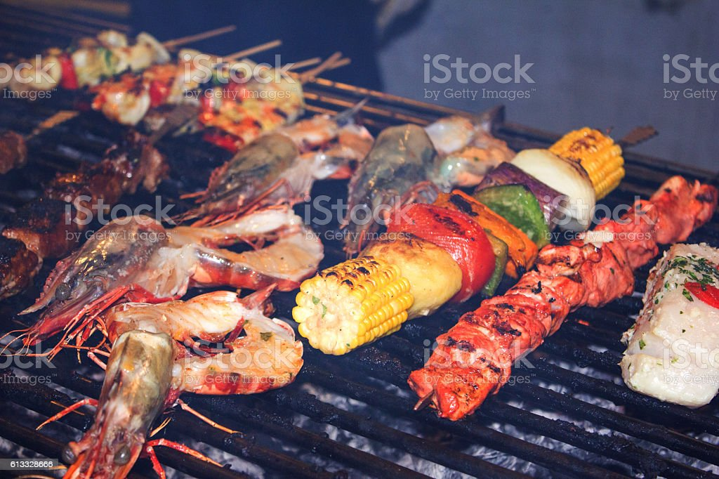 BBQ Skewer stock photo