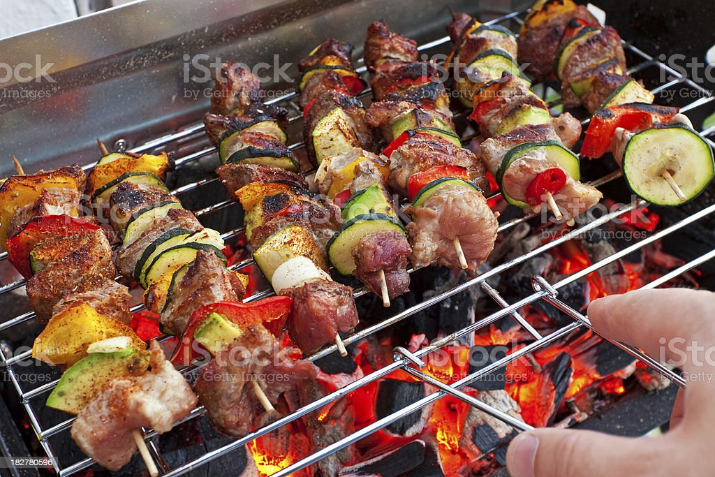 Skewers grill royalty-free stock photo