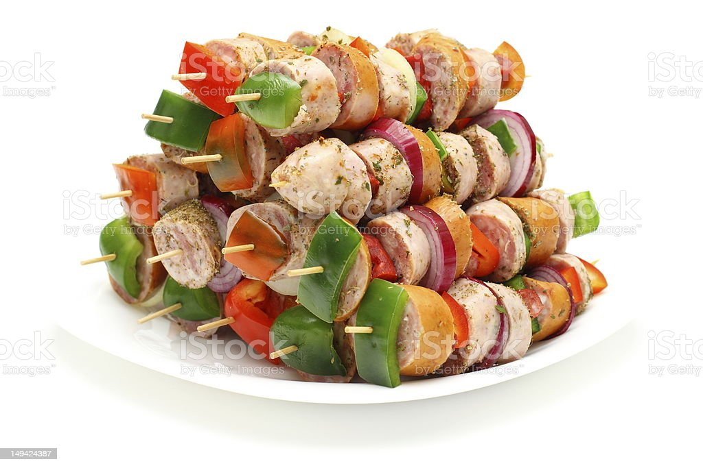 Skewers royalty-free stock photo