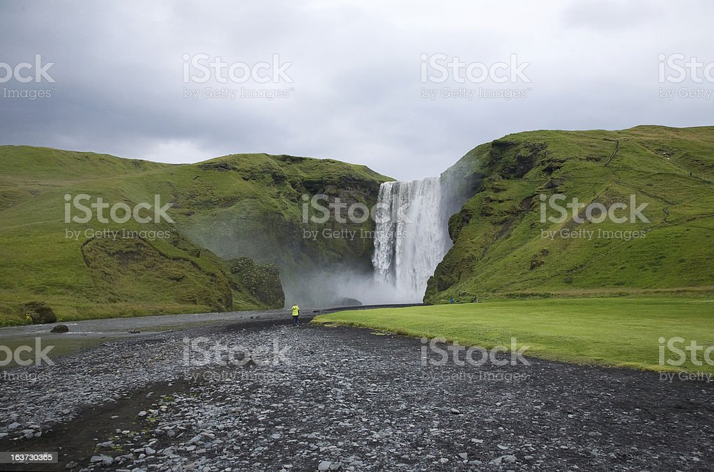 Sk?gafoss, Icelandic landscapes royalty-free stock photo