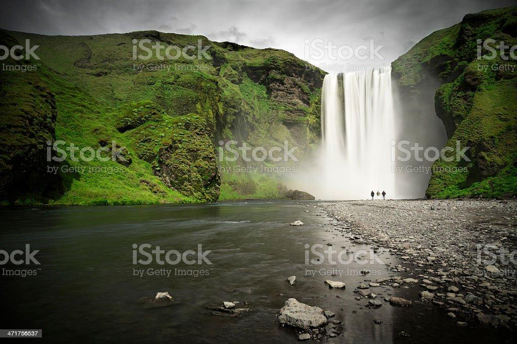 Sk?gafoss Waterfall, Iceland stock photo