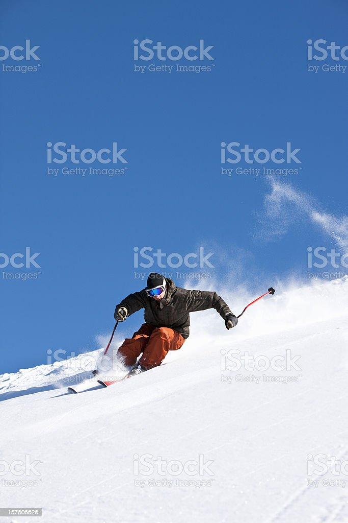 Ski action royalty-free stock photo